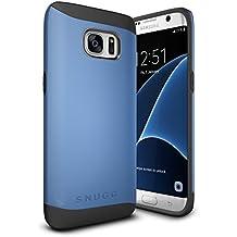 Funda Galaxy S7 Edge, Snugg Samsung Galaxy S7 Edge Case Slim Carcasa de Doble Capa [Infinity Series] Revestimiento con Protección Anti-Golpes – Azul