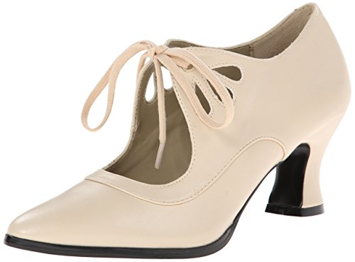 Pleaser Damen Victorian 03 Sandalen, Beige (Cream Pu), 37 EU / 4 UK