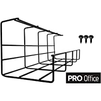 Bandeja Organizadora Cables para Debajo de la Mesa o Escritorio – Organiza sin Nudos los Cables de tu Ordenador (40 cm)