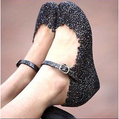 RUGAI-UE Estate Moda Donna Sandali Casual PU scarpe tacchi comfort,verde,US5 / EU35 / UK3 / CN34 Black