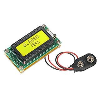 KKmoon 1 ~ 500 MHz Frequenzzähler Messer DIY Bausatz mit LCD Aneige, Hohe Genauigkeit und Empfindlichkeit SMA Buchse Hz Tester Messmodul Dunkelgrün