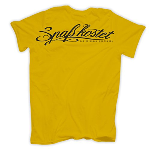 Männer und Herren T-Shirt Ride the Pony (mit Rückendruck) Gelb