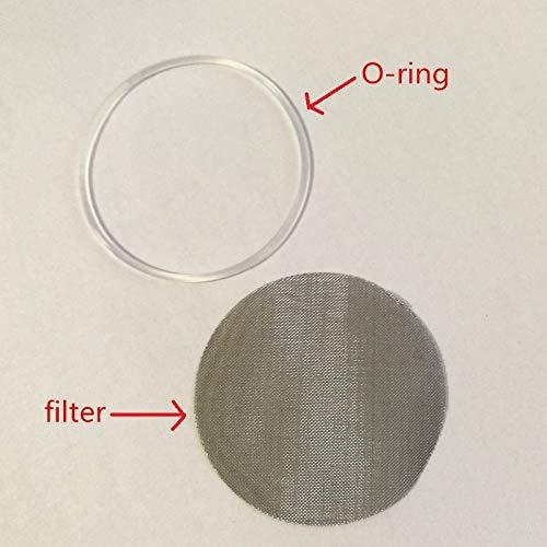 Uniqus Kapselnkapsel aus O-Silikon und Filter-Ersatzring, passend für illy Kaffeemaschine, nachfüllbar, wiederverwendbar, 10 Stück