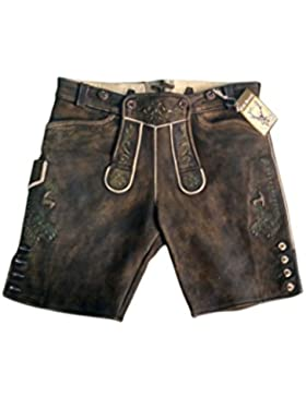 Tomi Incorporated Herren Lederhose, Trachten Lederhose aus dem Hirschleder