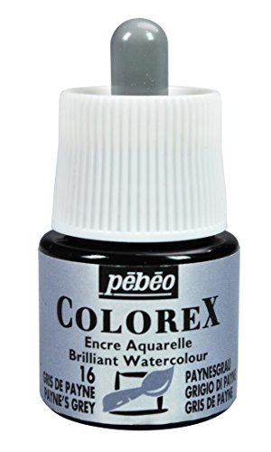 Colorex Aquarelltinte, PET, Grau, 4.5 x 4.5 x 7 cm, 1 Einheiten