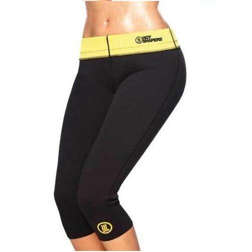 Hot Sapers - Pantalones cortos efecto sauna adelgazantes, fitness, varias medidas + cuerda cuenta saltos de regalo, XL