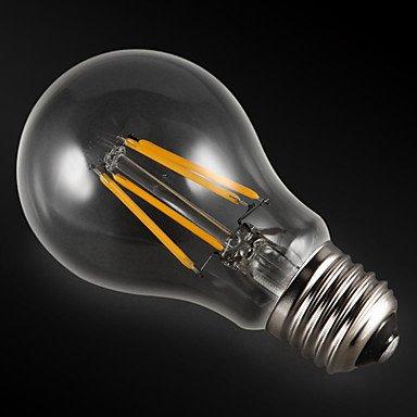 HZZymj-3 piezas KWB E26/E27 4W 4 COB 400 lm Blanco Cálido A60(A19) edison Cosecha Bombillas de Filamento LED AC 100-240 / AC 110-130 V , 200-240v