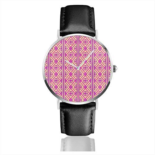 Changan Boogie Woogie Casual Uhren für Männer Frauen Damen mit schwarzem Leder ()