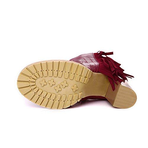 Balamasa - Pantoufles Pour Femme En Peau Rouge