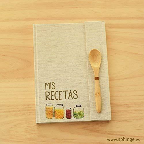 Recetario en blanco, regalo original personalizado, recetario personalizable, 15 x 21