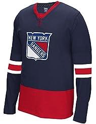 """New York Rangers Reebok NHL """"Face Off"""" Long Sleeve Jersey Shirt"""