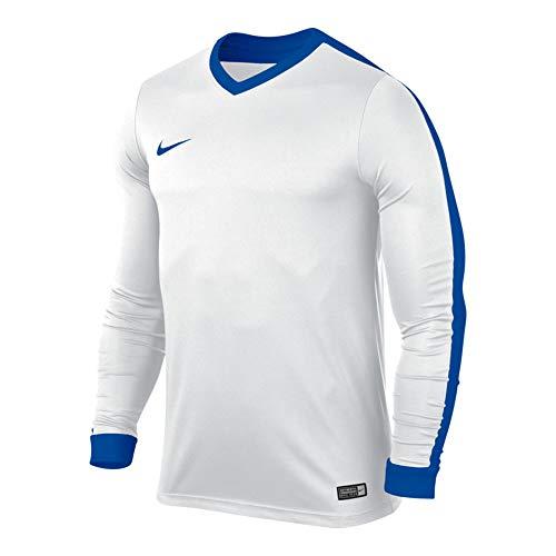 Nike-herren-em-spiel (Nike Herren Langarm Trikot Striker IV, weiß (White/Royal Blue), M, 725885-100)