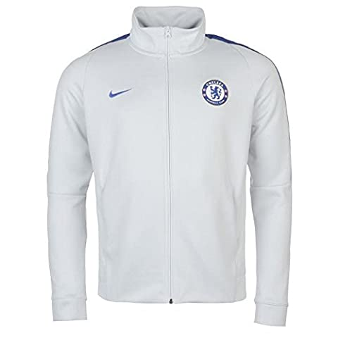 2017-2018 Chelsea Nike Authentic Track Jacket (Platinum)