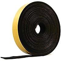 Esponja autoadhesiva de neopreno, 3 mm de grosor x 10 m de largo, color negro