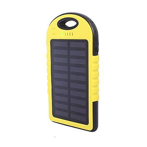 YGRSJ Solar Power Ladegerät, 12000mAH Tragbares Telefon Ladegerät Solar Power Bank Zwei LED-Taschenlampen 2.1A Ausgang und Warnlampe für Outdoor-Aktivitäten