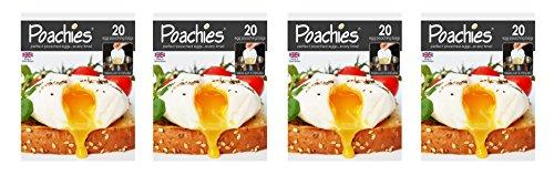 Poachiers Beutel für pochierte Eier, 17 x 13,5 x 2 cm, 4 x 20Stück Egg Poacher