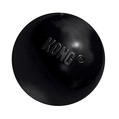KONG Extreme Ball Dog Toy, Black