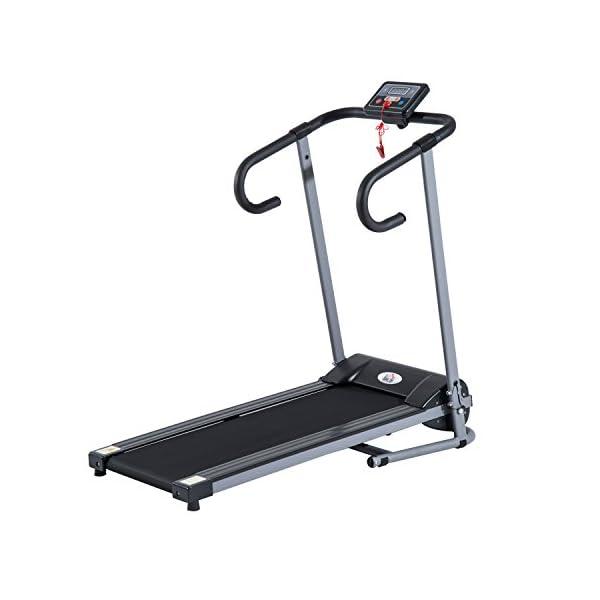 homcom - Tapis roulant Elettrico Attrezzo Ginnico richiudibile Attrezzo per l'Allenamento Domestico Schermo LCD 500 W 1 spesavip