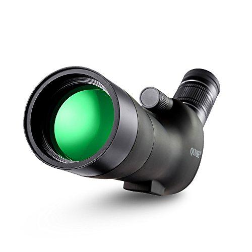 QUNSE Zoom Spektive, 20-60X60 Riesiges Sehfeld, Optiklinse mit Mehrfachbeschichtung, Geeignet zur Vogelbeobachtung, zur Beobachtung Anderer Tiere und zu den Outdoor-Aktivitäten