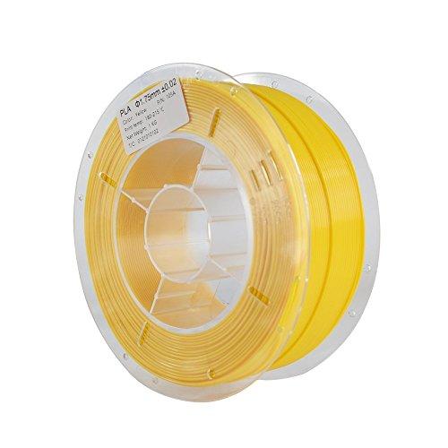 HICTOP 1.75mm PLA 3D-Drucker Glühfaden - 1 kg Spule (2,2 lbs) - Dimensional Genauigkeit +/- 0,05 mm (gelb) (Gelb Motherboard)