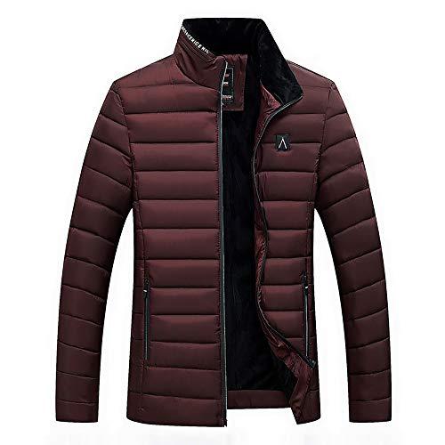 Mäntel Männer Winter Warme Mantel Jacke Solide Stehkragen Reißverschluss Langarm Mäntel Outwear Herren Plus Samt Baumwolle Jacken Top Bluse M-4XL -