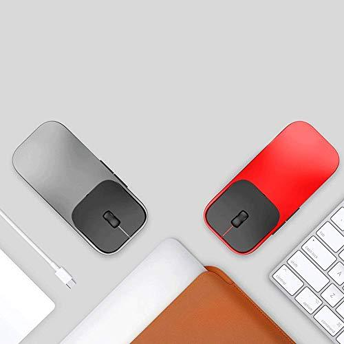 YZYL Tragbare Neue ultradünne kabellose Lademaus mit 6 Tasten und Einer elektrooptischen Auflösung von 1600 DPI für Spiele oder Büro 113 * 53 * 24 mm-Darkgray - Zone-empfänger-bluetooth -