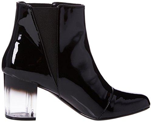 Dorothy Perkins Patent Adda Striped, Bottes Classiques femme Noir (noir)