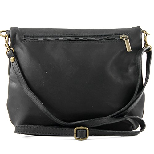 Visita Descuento borsa di pelle ital. pochette pochette borsa tracolla Ragazze T139 piccola pelletteria Nero Venta Barata Asequible Venta Nueva Visita HJt8zG