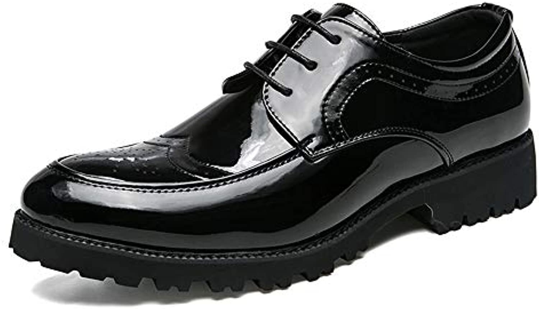 Jiuyue-scarpe, 2018 Scarpe da Uomo in Pelle Verniciata Stile Brogue, Stile Inglese Classico Semplice Oxford Scarpe... | Queensland  | Gentiluomo/Signora Scarpa