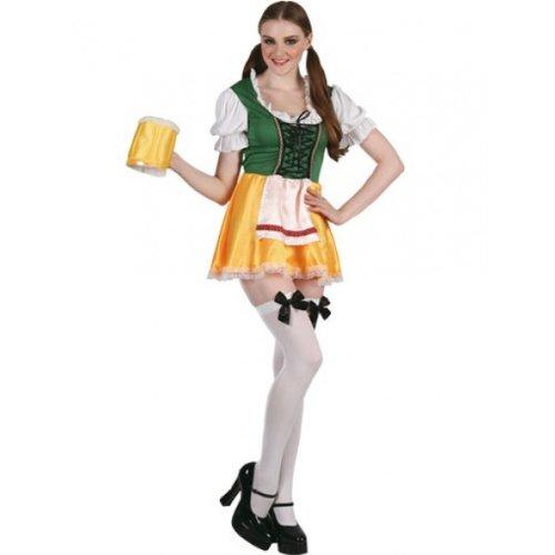 er Mädchen Kostüm, groß (Männlichen Oktoberfest Kostüme)