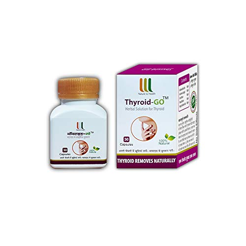 WHM Thyroid-GO is a 100% Ayurvedic Medicine for Thyroid(30-30Count) Capsules-Pack of 2