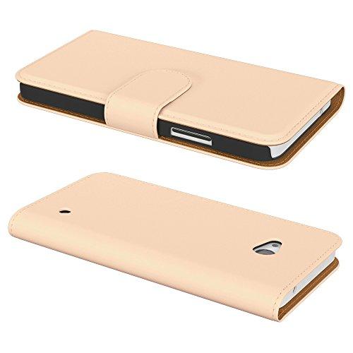Ultra Slim Cover für Nokia Lumia 650 Schutz Hülle TPU Case Schutzhülle Silikon Tasche Dünn Transparent Hellbraun (Book)