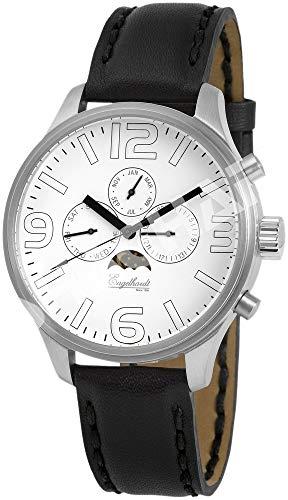 Engelhardt Herren Analog Mechanik Uhr mit Leder Armband 385722029082