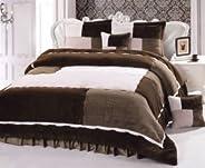 Luxury Winter 6 Piece Comforter Set -King Size , Purple