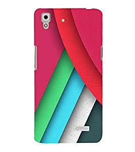 FUSON Modern Colorful Backdrop Illustration 3D Hard Polycarbonate Designer Back Case Cover for Oppo Neo 7 :: Oppo A33