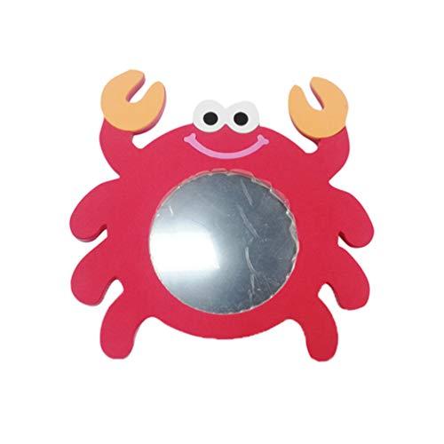 Toyvian Espejo de baño de Juguete Cangrejo Rojo Kid Cartoon Water Toy para niños niños