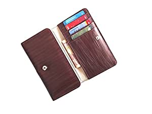 ATV PU Leather BROWN Designer Flip Pouch Case Cover For Gionee Pioneer P2M