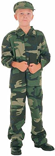 wn–88265–Kostüm Kinder Luxe Soldat–7/9Jahre (Fuß Soldaten Kostüm)