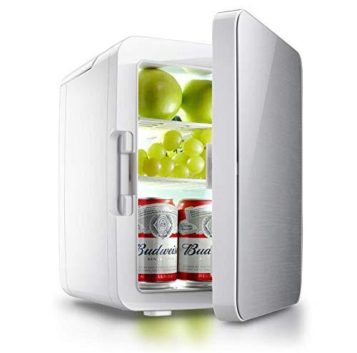 Mini-Kühlschrank Mit Elektrischer Kühlung Und Erwärmung Für Haus, Büro, Auto, Schlafsäle Oder Boote - Einschließlich 120-V- Und 12-V-AC/DC-Netzteilen,Silver Auto-120v Usb
