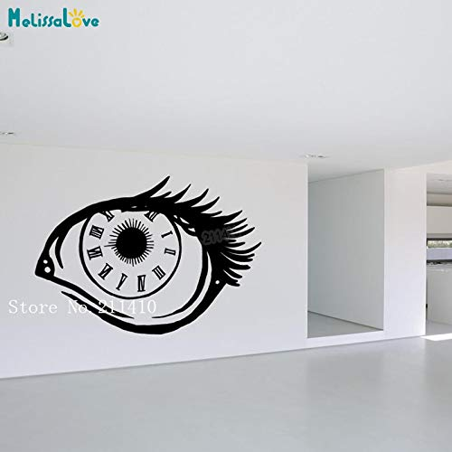 Sharp 42 (Fengdp Vinyl Wandaufkleber Cool Eye Clock Decals Dekoration Für Wohnzimmer Jungenzimmer Selbstklebende Sharp Eyes Art Murals 62 * 42 cm)