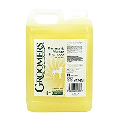 Groomers Banana and Mango Dog Shampoo, 2.5 Litre by Groomers