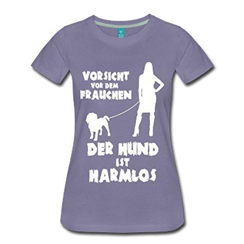 Beagle: Vorsicht vor dem Frauchen – der HUND ist HARMLOS Grau-Violett