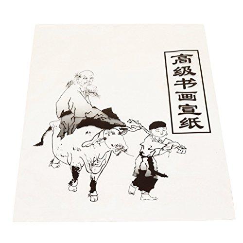 Preisvergleich Produktbild ULTNICE 30 Blatt Xuan Papier Reispapier für Kalligraphie Malerei Praxis