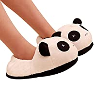 Koly® Men Women Couple Panda Winter Warm Plush Antiskid Indoor Home Slippers Unisex