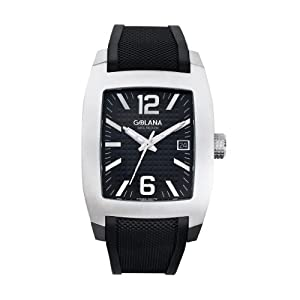 Reloj de caballero Golana Terra Pro Swiss Made All Terrain TE300-1 de cuarzo, correa de goma color negro de Golana