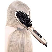Hairlife Cepillo de la enderezadora del Pelo del Peine del Calor del Calor,Masaje alisador de Cabello LCD de Temperatura.