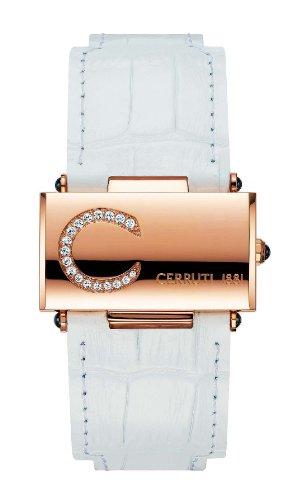 Cerruti - 4340469 - Montre Femme - Quartz - Analogique - Bracelet Cuir Blanc