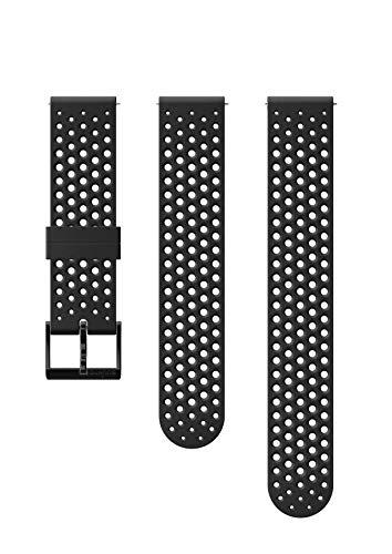 SUUNTO Uhrenarmband Zubehör, Unisex-Erwachsene Herren, 20mm Silicone, Black- Athletic, 20mm ; Size S+M (120-230 mm) -