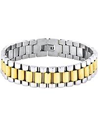 4aadfb56b96b Le Jewelbox 316L en acier inoxydable chirurgical Or 22 K rhodium Bracelet  pour homme