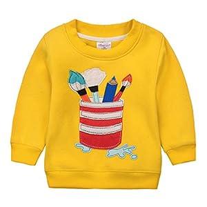 Sudaderas para Niños Navidad ciervos Bebé Camisetas de Manga Larga Niñas Sweatshirt Tops Vine 3 años 11